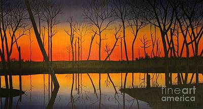 Twilight Reflections Poster by Lee Alexander