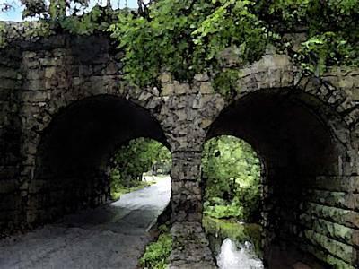 Twin Arch Bridge Poster by Darlene Freas