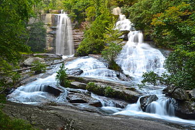 Twin Falls Flows Forth Poster by Frozen in Time Fine Art Photography