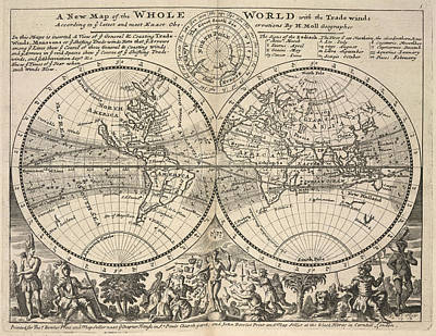Twin-hemisphere World Map Poster