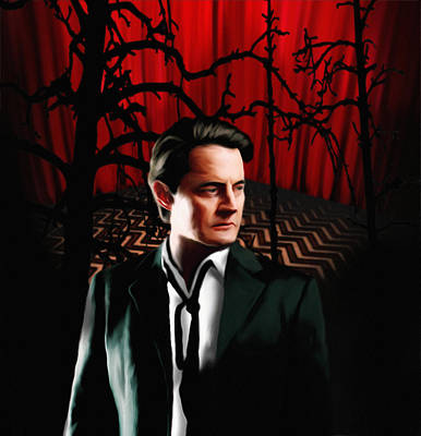 Poster featuring the painting Twin Peaks  Dale Cooper by Jeff DOttavio