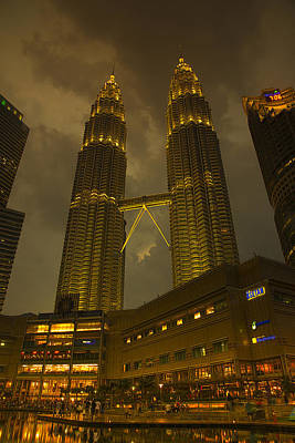 Twin Towers Of Kl Poster by Bill Cubitt
