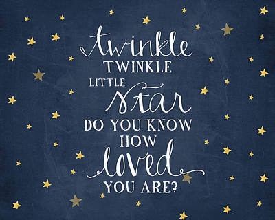 Twinkle Little Star Poster by Amy Cummings