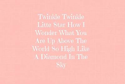 Twinkle Twinkle Poster by Chastity Hoff