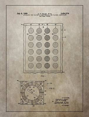 Twister Gameboard Patent Poster by Dan Sproul
