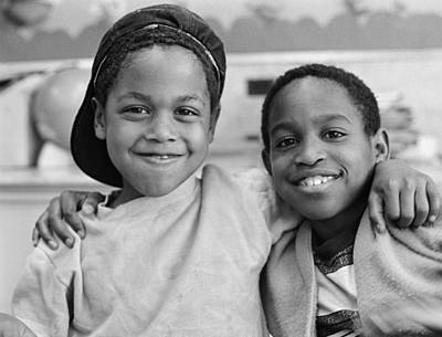 Two African American Boys Smiling Poster