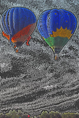 Two Balloons In Colored Pencil  Poster