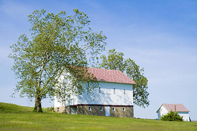 Two Barns Poster by Alexey Stiop