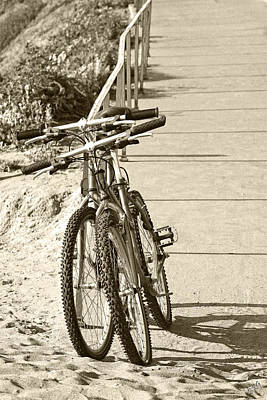 Two Bikes On The Beach Poster by Ben and Raisa Gertsberg