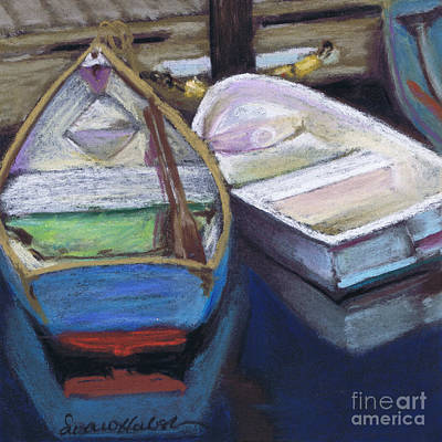 Poster featuring the painting Two Boats Bernard by Susan Herbst