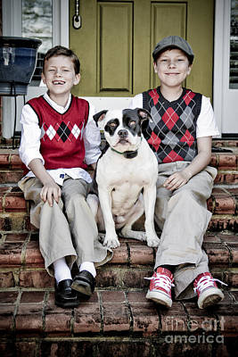 Two Boys And Their Dog Poster by Jt PhotoDesign