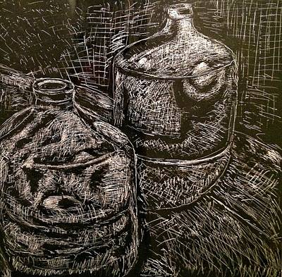 Two Carboy Bottles Poster by Patrick Humphreys