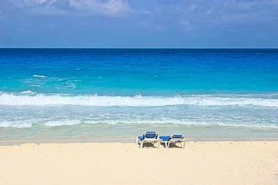 Two Chairs On Cancun Beach Poster