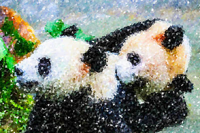 Two Cute Panda Poster by Lanjee Chee