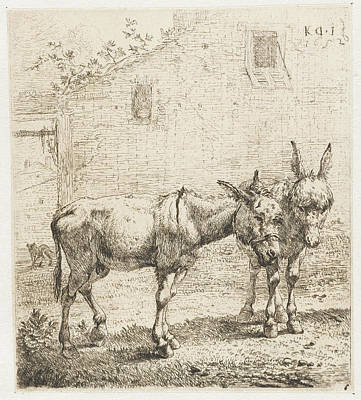 Two Donkeys, Karel Dujardin Poster by Karel Dujardin