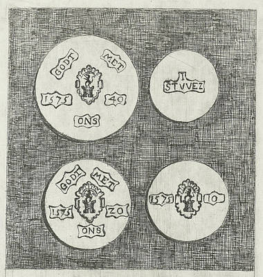 Two Emergency Coins Beaten During The Siege Of Schoonhoven Poster by Eberhard Cornelis Rahms