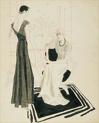 Two Fashionable Women Poster by R.S. Grafstrom