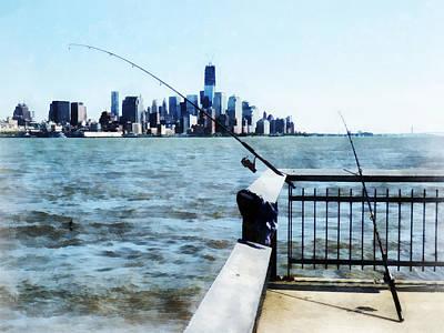 Two Fishing Poles Poster by Susan Savad