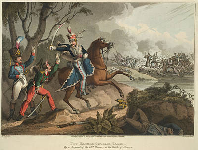 Two French Officers Taken Poster