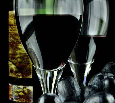 Two Glasses With Red Wine Poster by Tommytechno Sweden