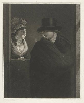 Two Lovers At The Door, Lambertus Antonius Claessens Poster
