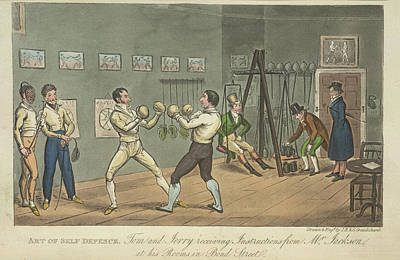 Two Men Boxing Poster by British Library