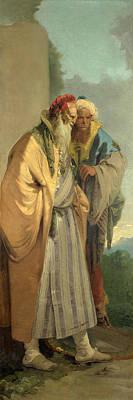 Two Men In Oriental Costume Poster by Giovanni Battista Tiepolo