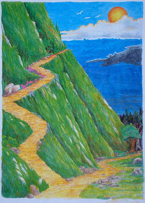 Poster featuring the painting Two Paths by Matt Konar