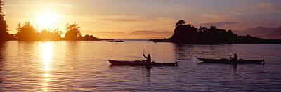 Two People Kayaking In The Sea, Broken Poster