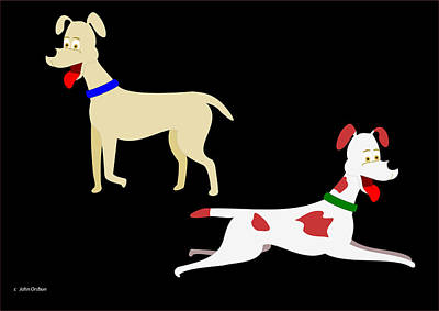 Two Pet Dogs Poster