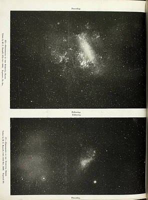 Two Photographs Of A Nebula Poster