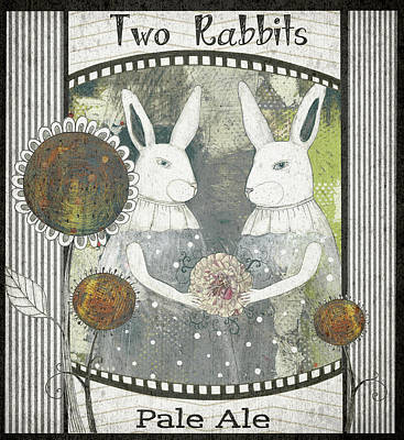 Two Rabbits Pale Ale Poster by Sarah Ogren