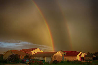 Two Rainbows Plus Two Pots Of Gold Poster by Jerome Lynch