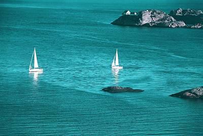 Two Sailboats Poster