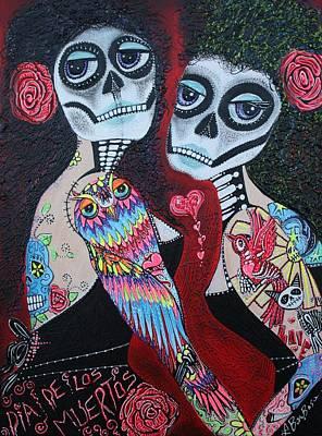Two Senoritas Poster by Laura Barbosa