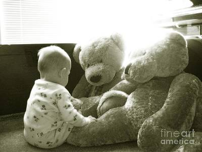 Two Teddy Bears Poster by Cadence Spalding