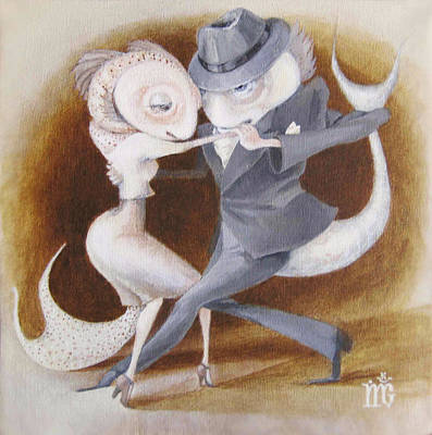 Two To Tango Poster by Marina Gnetetsky