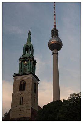 Two Towers In Berlin Poster