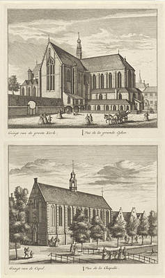 Two Views In Alkmaar With The Great Church And The Chapel Poster