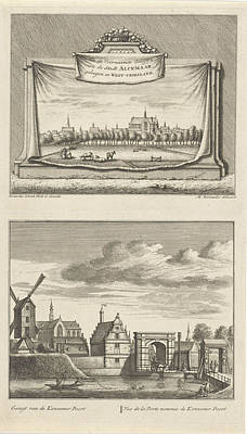 Two Views In Alkmaar With The Great Church Poster