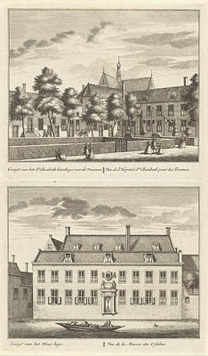 Two Views In Alkmaar With The Orphanage And The St Poster