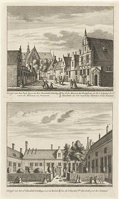 Two Views In Alkmaar With The Plague House And St Elisabeth Poster