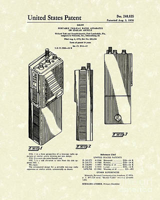 Two-way Radio 1976 Patent Art Poster by Prior Art Design