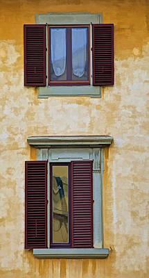 Two Windows Of Cortona Poster