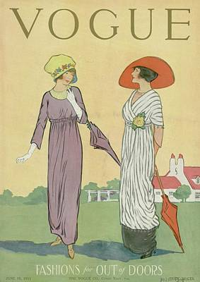 Two Women In Spring Clothing Poster by Helen Dryden
