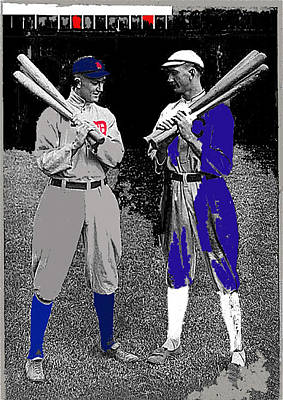 Ty Cobb And Shoeless Joe Jackson Cleveland 1913-2014 Poster by David Lee Guss