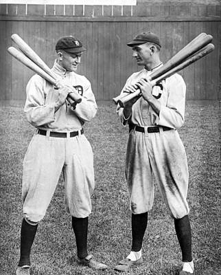 Ty Cobb And Shoeless Joe Jackson Poster by Historic Vantage