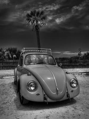 Tybee Island Beach Bug 002 Bw Poster by Lance Vaughn