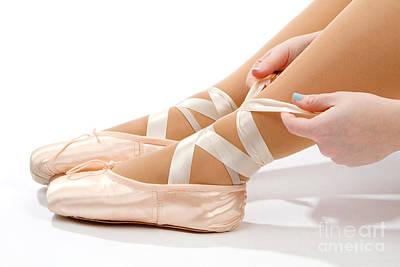 Tying Ballet Slippers Poster