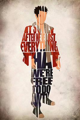Tyler Durden Poster by Ayse Deniz